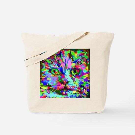 Pop Art Kitten Tote Bag