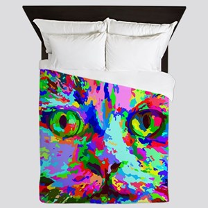 Pop Art Kitten Queen Duvet