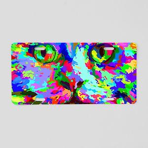 Pop Art Kitten Aluminum License Plate