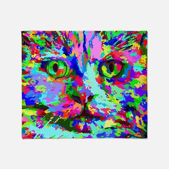 Pop Art Kitten Throw Blanket
