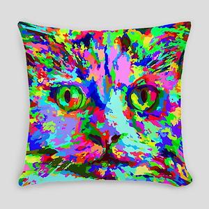 Pop Art Kitten Everyday Pillow