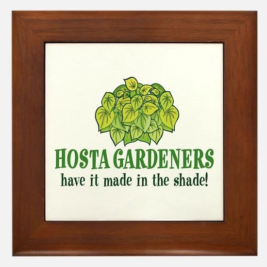 Hosta Gardener Framed Tile