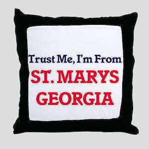 Trust Me, I'm from St. Marys Georgia Throw Pillow