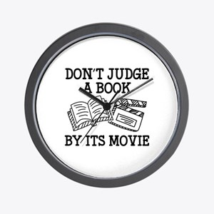Don't Judge A Book By Its Movie Wall Clock