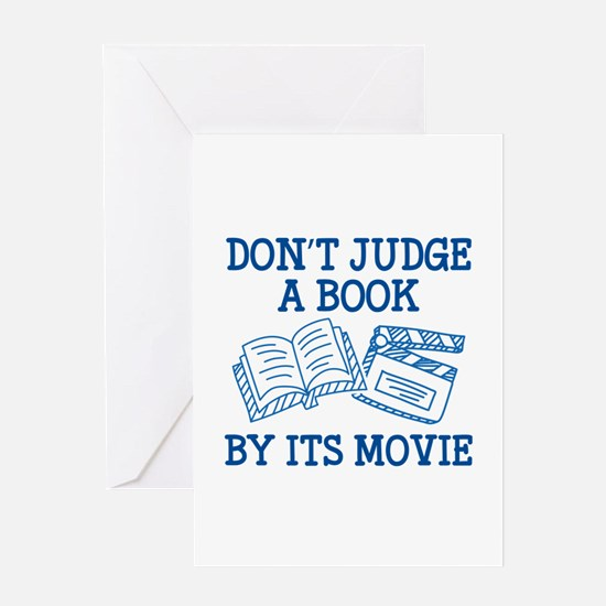 Don't Judge A Book By Its Movie Greeting Card