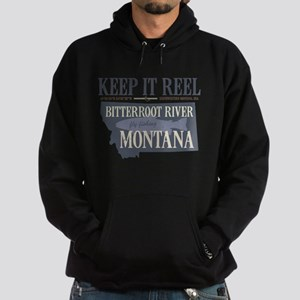 Fly Fishing Shirt Trout Montana Hoodie (dark)