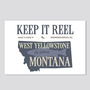Montana fly fishing west Postcards (Package of 8)