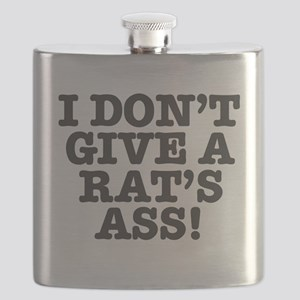 I DON'T GIVE A RATS ASS! Flask