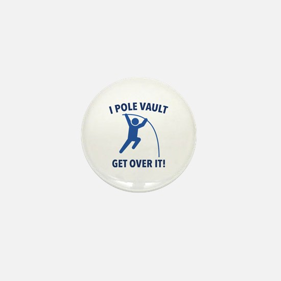 I Pole Vault Mini Button