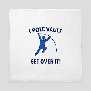 I Pole Vault Queen Duvet
