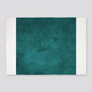 Distressed Teal Blue Green 5'x7'Area Rug