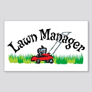 Lawn Manager Rectangle Sticker