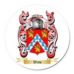 Witts Round Car Magnet