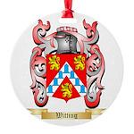 Witting Round Ornament