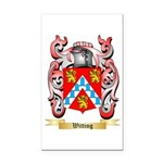Witting Rectangle Car Magnet