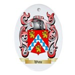 Witte Oval Ornament