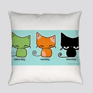 Saturday Sunday Monday Cats Everyday Pillow