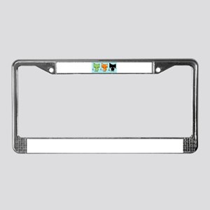 Saturday Sunday Monday Cats License Plate Frame