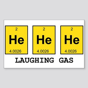 Laughing Gas Element Pun Sticker