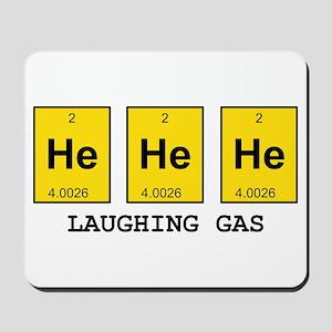 Laughing Gas Element Pun Mousepad