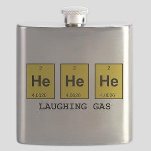 Laughing Gas Element Pun Flask