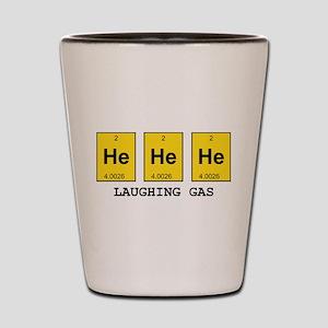 Laughing Gas Element Pun Shot Glass
