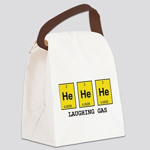 Laughing Gas Element Pun Canvas Lunch Bag