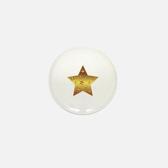 Unique Gold star Mini Button
