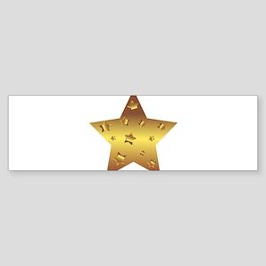 Golden Star Bumper Sticker