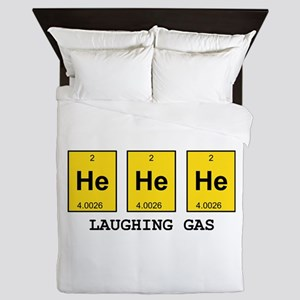 Laughing Gas Element Pun Queen Duvet