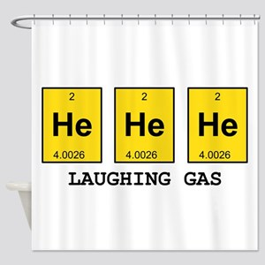 Laughing Gas Element Pun Shower Curtain