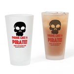 Drink Like A Pirate Drinking Glass