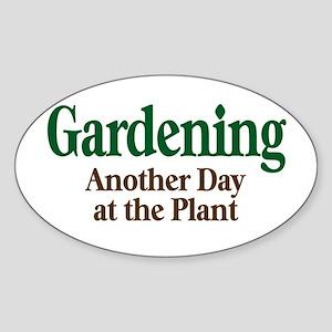 Gardening Oval Sticker
