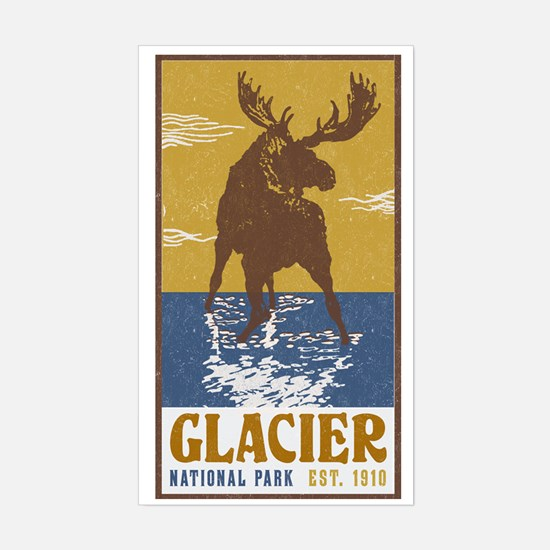 Unique Glacier bay national park and preserve Sticker (Rectangle)