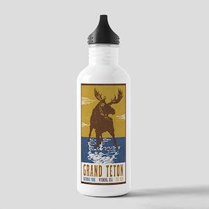 Grand Teton Moose Vint Stainless Water Bottle 1.0L