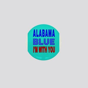 ALABAMA BLUE I'M WITH YOU Mini Button