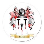 Wisker Round Car Magnet
