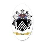 Wise Oval Car Magnet