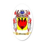 Winning Oval Car Magnet