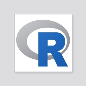 R Programming Language Logo New Sticker