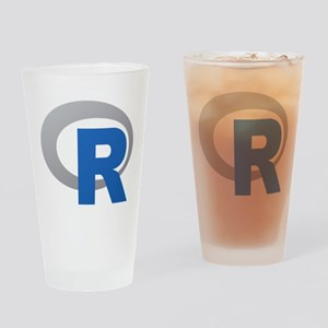R Programming Language Logo New Drinking Glass