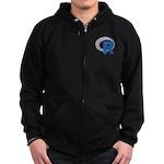 R Programming Language Logo New Zip Hoodie