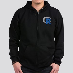 R Programming Language Logo New Zip Hoodie