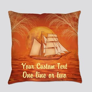 Personalized Sailboat Everyday Pillow