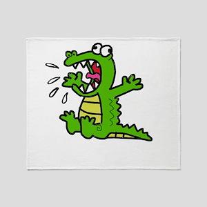 Screaming gator Throw Blanket