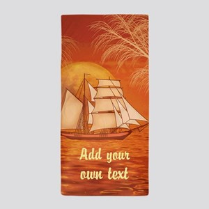 Personalized Sailboat Beach Towel