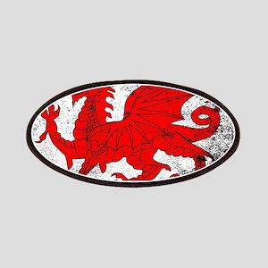 Welsh Dragon Grunge Patch