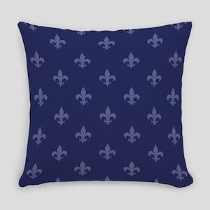 Fleur De Lis (Navy Blue) Everyday Pillow