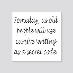 Cursive Secret Code Sticker