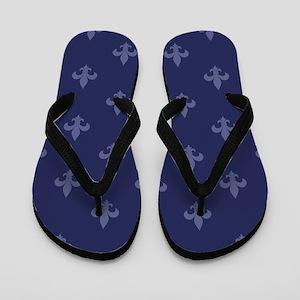 Fleur De Lis (Navy Blue) Flip Flops